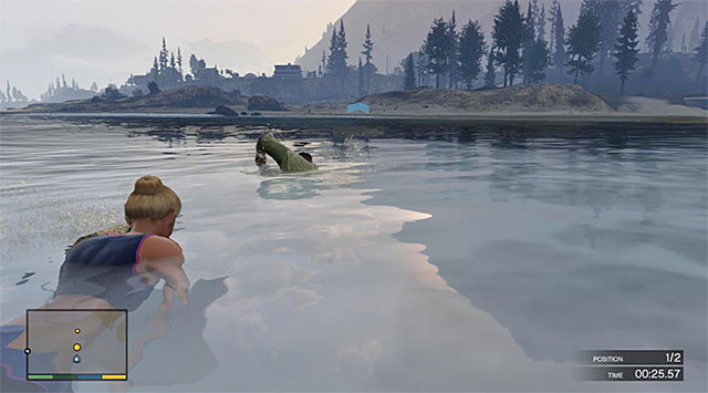 Swim towards the shore - Exercising Demons - Franklin - Strangers and Freaks missions - Grand Theft Auto V Game Guide