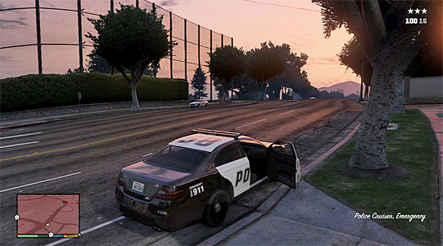 The police car - Breach of Contract - Strangers and Freaks missions - Grand Theft Auto V Game Guide