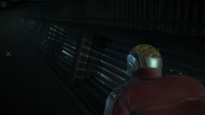 Enter the ventilation shaft on the left and proceed to the other end using the angled floorway - The enemy ship | Episode 1 - Tangled Up in Blue - Episode 1 - Tangled Up in Blue - Marvels Guardians of the Galaxy: The Telltale Series Game Guide