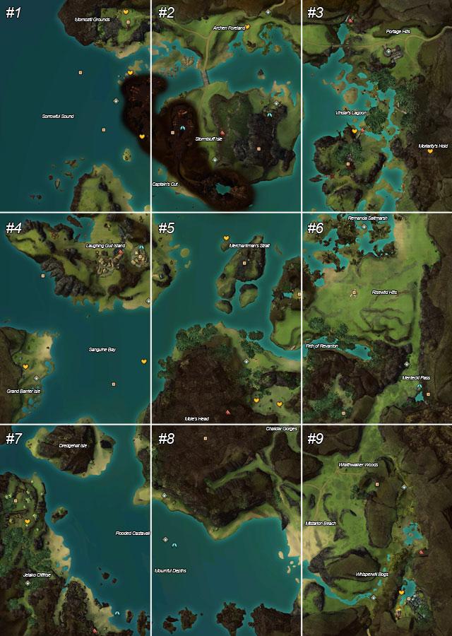 Guild Wars 1 World Map.Bloodtide Coast Maps Guild Wars 2 Game Guide Gamepressure Com