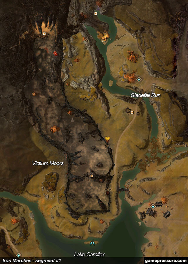 Iron Marches Map - Guild Wars 2 | game-maps.com