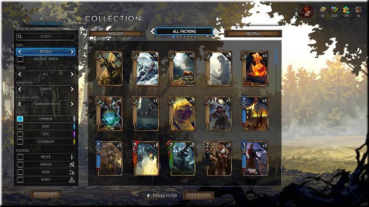 Las cartas comunes se pueden reconocer por un cuadrado blanco en su esquina inferior derecha - Card Rarity |  Tipos de tarjetas - Tipos de tarjetas - Gwent: The Witcher Card Game Guide