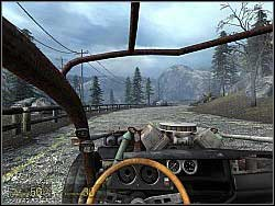 When you get to a roadblock, turn left towards the river - Shotgun Ride p. I - Walkthrough - Half-Life 2: Episode Two - Game Guide and Walkthrough