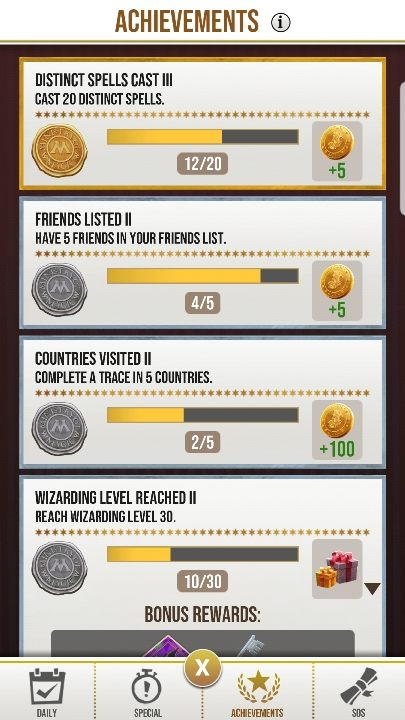 Achievements in Harry Potter Wizards Unite - Harry Potter