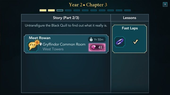 to develop your character you need to learn new things year 2 in harry potter
