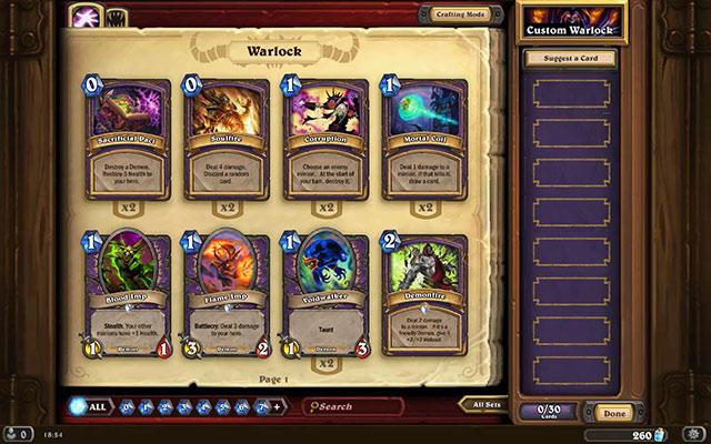 Warlock Ready Made Decks Hearthstone Heroes Of