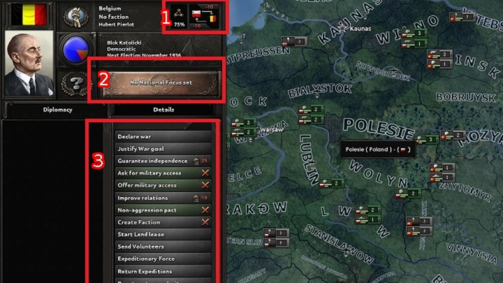 Game interface - Hearts of Iron IV Game Guide | gamepressure com