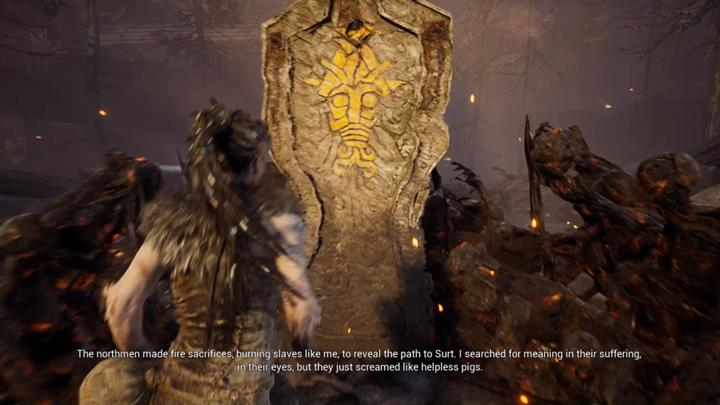 Same story. Touch it and torch it. - Second burning gate - Surts Realm - Hellblade: Senuas Sacrifice Game Guide