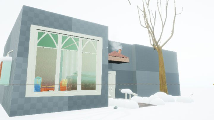 A short scene at the beginning of the game introduces player to the story - the character travelling by car is injured in an accident - Hello Neighbor Snowed In! mod for Hello Neighbor - Best mods - Hello Neighbor Game Guide