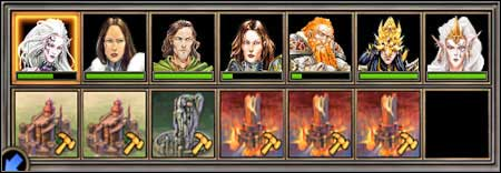 The whole heroes family. - Campaign 3, Mission 5 - The End - Campaign 3 - Ylaya's Task - Heroes of Might and Magic V: Hammers of Fate - Game Guide and Walkthrough