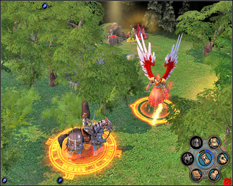 The Fallen Angel will gladly join your army - same with every Haven unit colored red. - Campaign 1, Mission 4 - Negotiations - Campaign 1 - Freyda's Dilema - Heroes of Might and Magic V: Hammers of Fate - Game Guide and Walkthrough