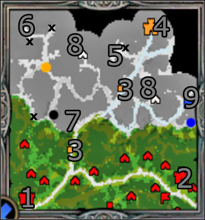 Hero: Freyda will reach 27 level of experience maximally in this scenario - Campaign 1, Mission 4 - Negotiations - Campaign 1 - Freyda's Dilema - Heroes of Might and Magic V: Hammers of Fate - Game Guide and Walkthrough