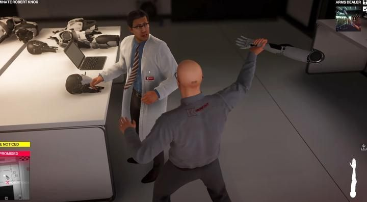 Hit anyone with androids arm, not yours. - Challenges - Feats | The Finish Line Mission in Hitman 2 - The Finish Line (Miami) - Hitman 2 Guide