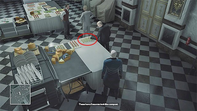 Novikov should occasionally walk into the catering room and whine on his employees - Murdering Viktor Novikov | Paris: The Showstopper - Paris: The Showstopper - Hitman Game Guide