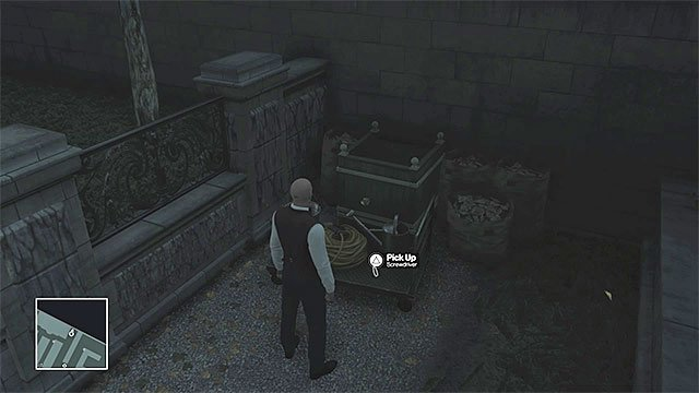 One of the screwdrivers is lying on the ground in the northern part of the gardens - Murdering Viktor Novikov | Paris: The Showstopper - Paris: The Showstopper - Hitman Game Guide
