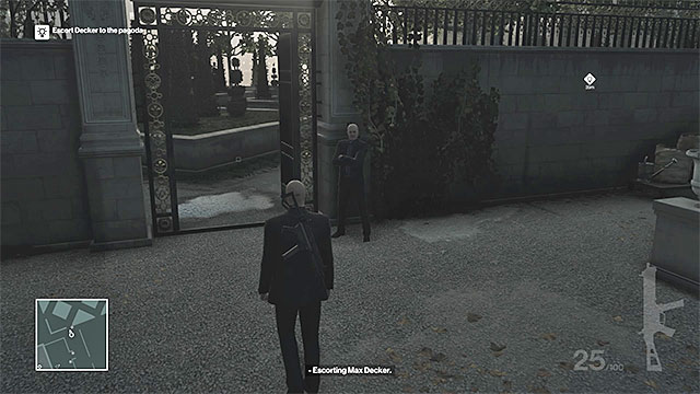You must get to the southwestern part of the gardens - Murdering Viktor Novikov | Paris: The Showstopper - Paris: The Showstopper - Hitman Game Guide