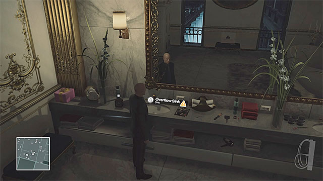 Clogging the sink will be noted by the bodyguards. - Murdering Dalia Margolis | Paris: The Showstopper - Paris: The Showstopper - Hitman Game Guide