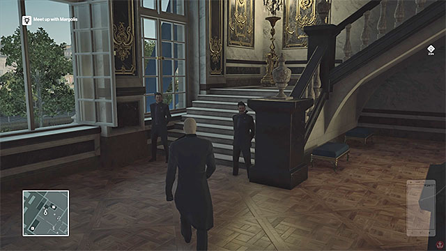 Kruger wont be searched by the guards standing by the stairs leading to the third floor. - Murdering Dalia Margolis | Paris: The Showstopper - Paris: The Showstopper - Hitman Game Guide