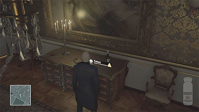 Place cyanide in the glass of champagne. - Murdering Dalia Margolis | Paris: The Showstopper - Paris: The Showstopper - Hitman Game Guide