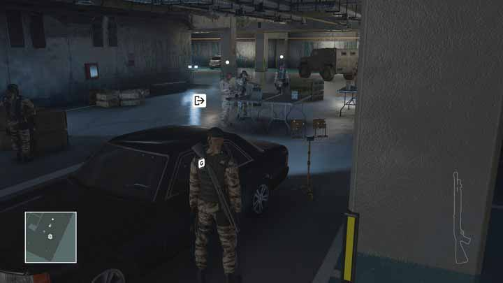 The consulate employees car is parked in the consulates basement. - Leaving the mission area | Marrakesh - Marrakesh: A Gilded Cage - Hitman Game Guide