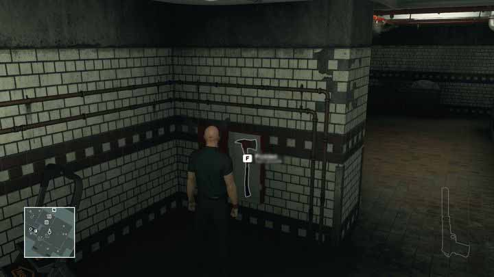 There is a fire axe on the wall - you can prepare it beforehand. - Murdering Ken Morgan | Bangkok - Bangkok: Club 27 - Hitman Game Guide