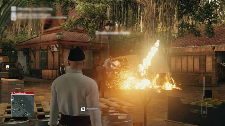 Sparks caused by the old engine will ignite the pool of fuel and result in a spectacular explosion. - Murdering Ken Morgan | Bangkok - Bangkok: Club 27 - Hitman Game Guide