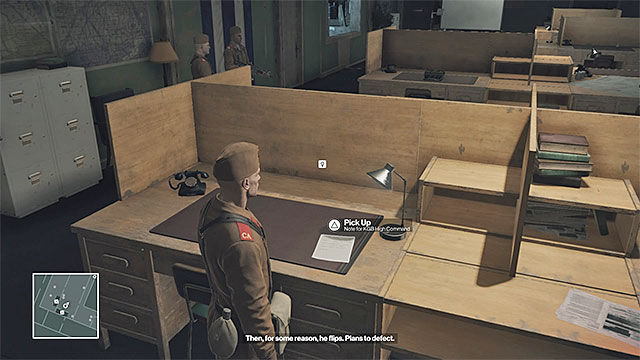 The document is lying on one of the desks on floor 1 - Disguises and important items | Final Training - Final Training - Hitman Game Guide