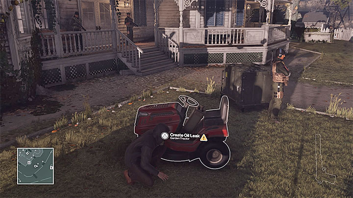 The garden tractor is in front of the house - Murdering Ezra Berg | Colorado - Colorado: Freedom Fighters - Hitman Game Guide
