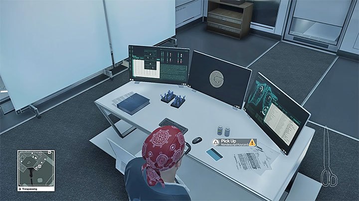 Disposable scrambler is in the monitoring room and the chip can be found in directors office - Important items | Hokkaido - Hokkaido: Situs Inversus - Hitman Game Guide