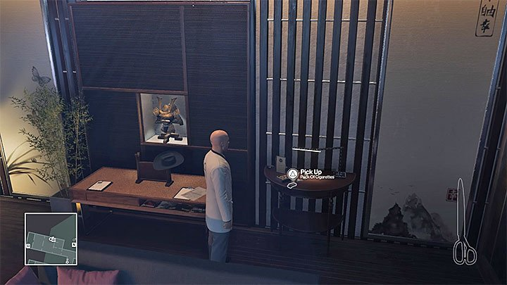 The best choice is to steal the cigarettes from Amos Dexters apartment - Important items | Hokkaido - Hokkaido: Situs Inversus - Hitman Game Guide