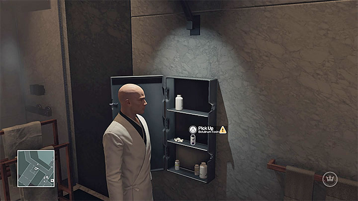 One of the toxins is in the locker in Portmans apartment - Important items | Hokkaido - Hokkaido: Situs Inversus - Hitman Game Guide