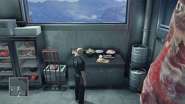 Use the kitchen knife on Fugu fish to prepare the poison - Important items | Hokkaido - Hokkaido: Situs Inversus - Hitman Game Guide