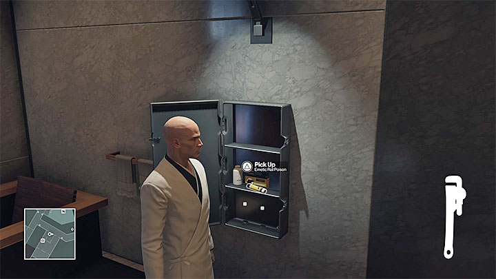 One of the rat poisons is in the locker in Agent 47s apartment - Important items | Hokkaido - Hokkaido: Situs Inversus - Hitman Game Guide