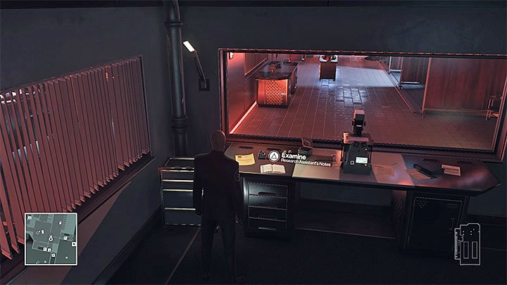 The notes are in a small room with monitoring - Important items | Hokkaido - Hokkaido: Situs Inversus - Hitman Game Guide