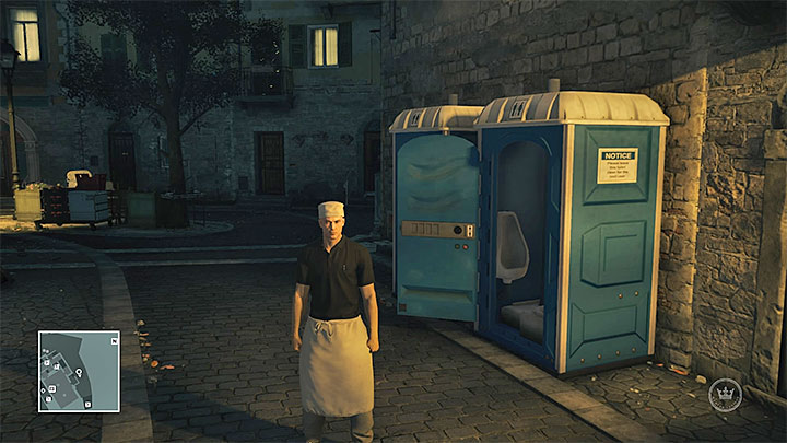 Kitchen assistant outfit - Disguises and important items | Sapienza: The Icon - Summer Episode - Sapienza: The Icon - Hitman Game Guide