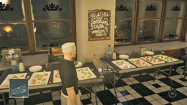 The key is in the caf� - Disguises and important items | Sapienza: The Icon - Summer Episode - Sapienza: The Icon - Hitman Game Guide
