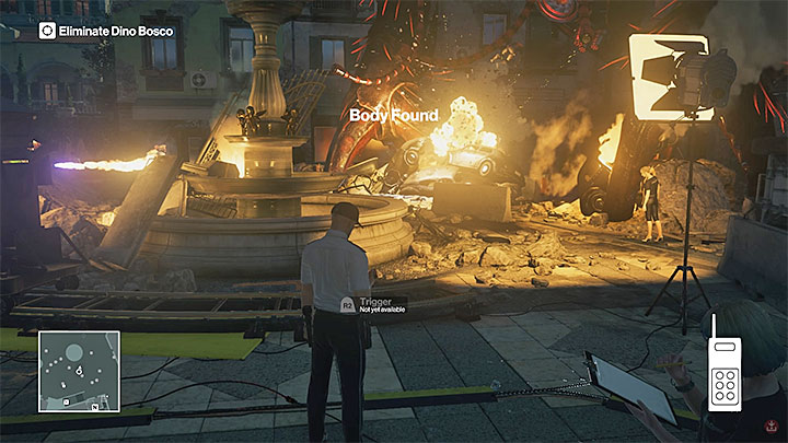 DO NOT FIRE the pyrotechnics trigger straight away - Murdering Dino Bosco | Sapienza: The Icon - Summer Episode - Sapienza: The Icon - Hitman Game Guide