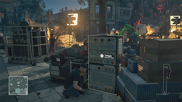 Sabotage the generators to interrupt the works on the movie set - Murdering Dino Bosco | Sapienza: The Icon - Summer Episode - Sapienza: The Icon - Hitman Game Guide