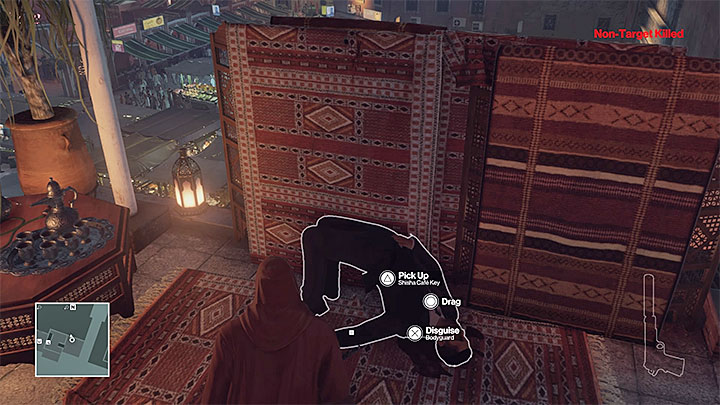 You can get the key, e.g. from the bodyguard in the carpet shop - Disguises and important items | Marrakesh: A House Built on Sand - Summer Episode - Marrakesh: A House Built on Sand - Hitman Game Guide