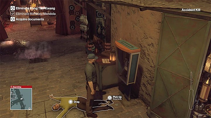 Search around by Mendolas corpse - Disguises and important items | Marrakesh: A House Built on Sand - Summer Episode - Marrakesh: A House Built on Sand - Hitman Game Guide