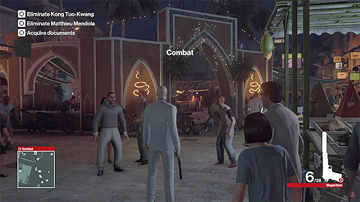 Using guns to throw down the lights will alarm people - Murdering Matthieu Mendola | Marrakesh: A House Built on Sand - Summer Episode - Marrakesh: A House Built on Sand - Hitman Game Guide