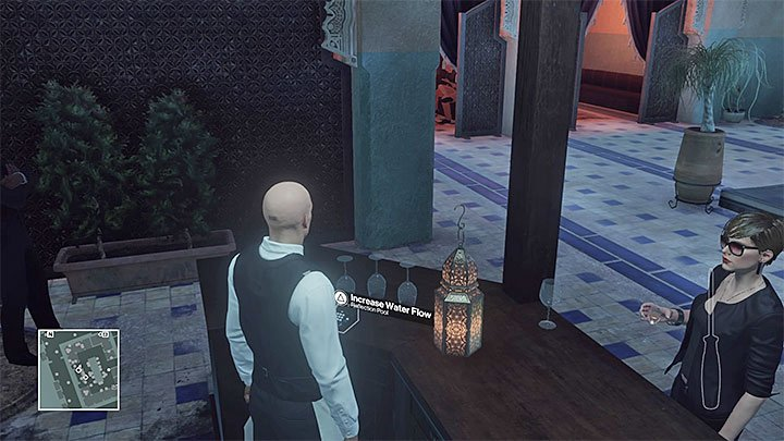 Water level control is right by the counter - Murdering Kong Tuo-Kwang | Marrakesh: A House Built on Sand - Summer Episode - Marrakesh: A House Built on Sand - Hitman Game Guide