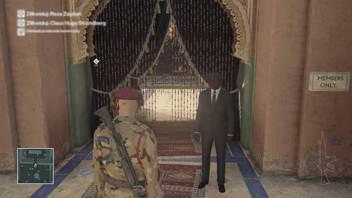 You wont enter the cafe without a proper pass. - Murdering Claus Hugo Strandberg | Marrakesh - Marrakesh: A Gilded Cage - Hitman Game Guide