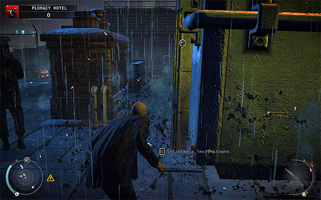 It is worth to regularly use Instinct here, so you can see enemies better and plan next steps easier - Burning hotel - 4: Run For Your Life - Hitman: Absolution - Game Guide and Walkthrough