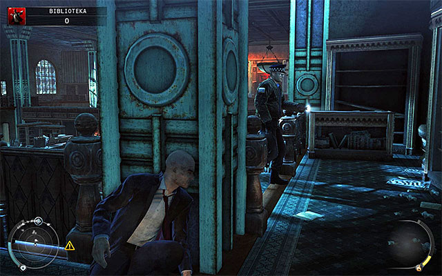 Go down to the balcony below you, because you can't do anything from the starting position - The Library - Crossing the first part of the library - 4: Run For Your Life - Hitman: Absolution - Game Guide and Walkthrough