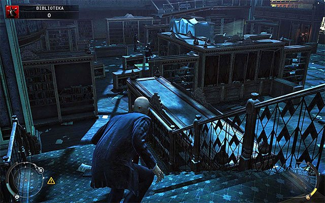 A balcony where you've started this stage can be left in two ways - The Library - Crossing the first part of the library - 4: Run For Your Life - Hitman: Absolution - Game Guide and Walkthrough