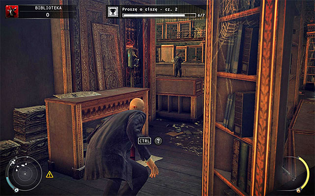 During walk through the library you should notice that policemen successfully restored the power - The Library - Crossing the first part of the library - 4: Run For Your Life - Hitman: Absolution - Game Guide and Walkthrough