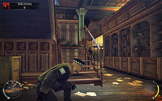 A better idea to get to the other side of the library is to use upper balconies - The Library - Crossing the first part of the library - 4: Run For Your Life - Hitman: Absolution - Game Guide and Walkthrough