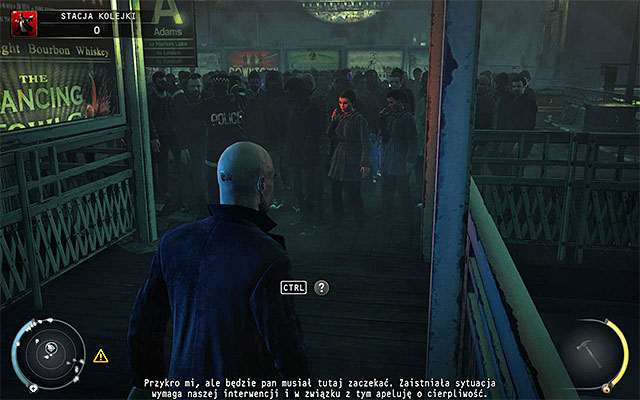 Regardless of whether you took evidence or not, head to the left building exit (the one, where SWAT team appeared at) - Train station - Getting to train station - 4: Run For Your Life - Hitman: Absolution - Game Guide and Walkthrough