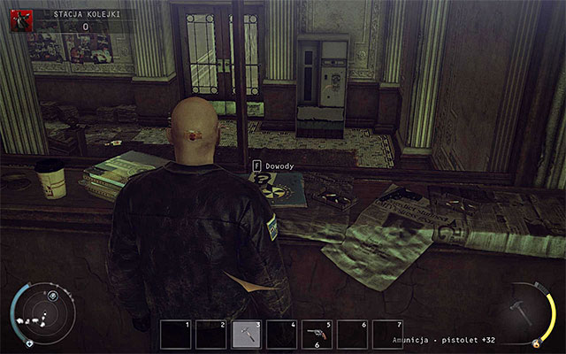The third evidence can be obtained in the Train station stage - 4: Run For Your Life - Challenges - Hitman: Absolution - Game Guide and Walkthrough